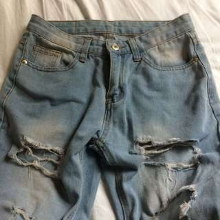RNY Denim Tattered Jeans