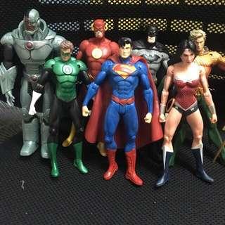 dc justice league set k.o.