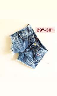 Skull Denim Shorts