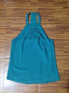 H&M Turquoise Halter Top