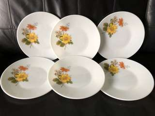 NEW! Vintage Corningware Autumn Glory collection dinner + serving plates. Made in England.