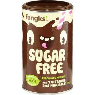 (聖美人)澳洲Fangks 兒童無糖朱古力粉200g Fangks Sugar Free Chocolate Milk Mix 200g