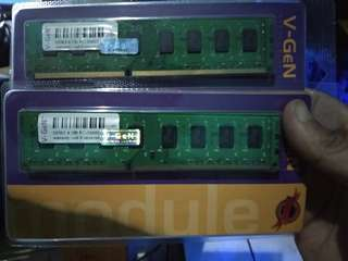 RAM PC Merk Vgen 4GB DDR3 PC10600 Termurah