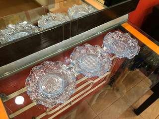 "Vintage 5"" dodol blue plates"