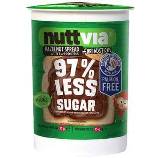 (聖美人)澳洲[NUTTVIA] 朱古力榛子醬餅乾條裝 Nuttvia Sugar chocolate hazelnut spread + Breadsticks