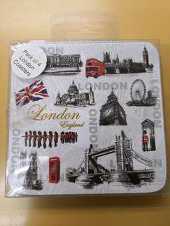 (杯墊) Pack of 4 London Coasters