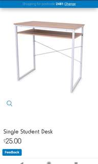 Small white and wood student desk