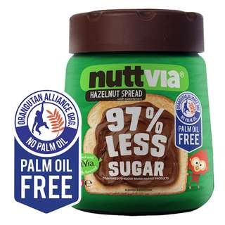 澳洲[NUTTVIA] 低糖朱古力榛子醬350g Nuttvia Low Sugar Chocolate Hazelnut Spread 350g