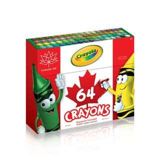 美國Crayola 64色 無毒安全蠟筆 (盒上附送筆刨)