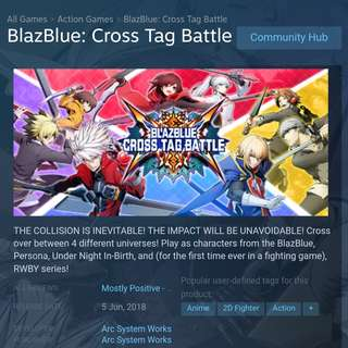 🚚 Blazblue: Cross Tag Battle Deluxe Edition (Available)