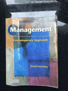 Management - A contemporary approach - Doede Keuning