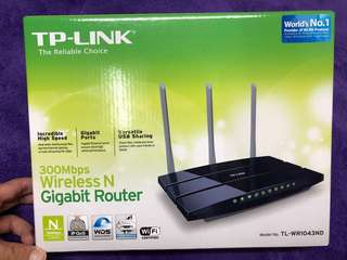 Wireless Router WiFi TP-Link Gigabit TL-WR1043ND