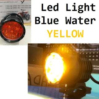 Blue water LED Cree 60 watts for motorcycle 12v Yellow