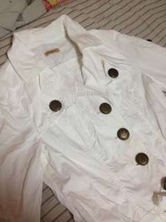 Preppy white coat