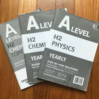 A Level TYS Physics and Chemistry Answer Key