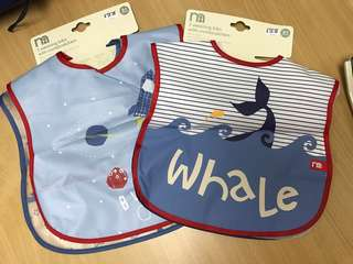 Mothercare weaning bib with crumbs catcher