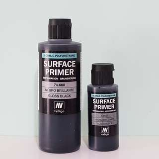 Vallejo Gloss Black Primer 60ml/200ml acrylic