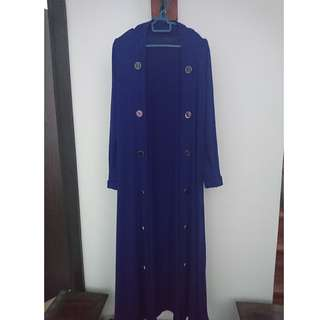(Free postage) Electric Blue Long Open Cardigan
