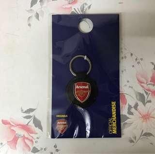 阿仙奴 黑皮 Arsenal logo Keyring