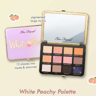 Too faced white peachy eyeshadow palette