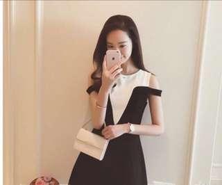 🚚 (新品優惠)氣質 小性感棉質洋裝(M)