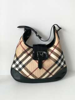 Authentic Burberry Hobo Shoulder Bag