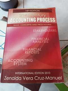 Accounting process book