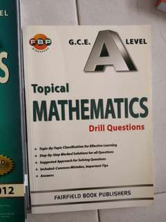 H2 Math TYS and Drill questions