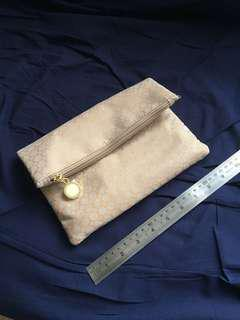 Bvlgari clutch bag with cosmetics
