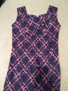 Cheap dress pink purple waffle
