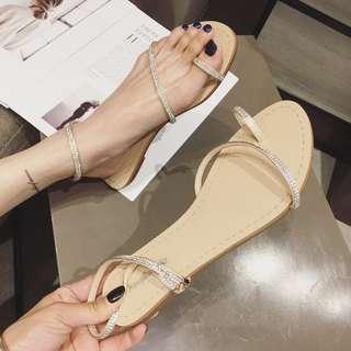 超仙鑲鑽涼鞋