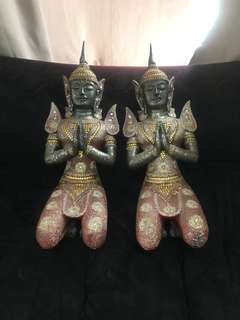Thai Buddha Set of Two