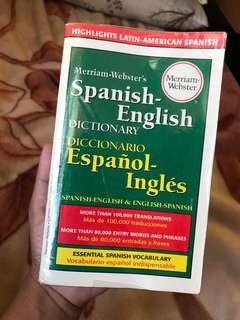 Spanish to English and vice versa Dictionary