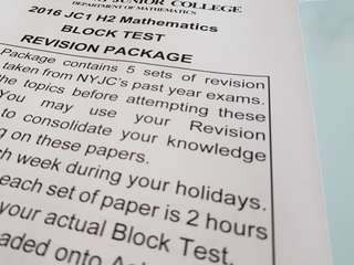 H2 Mathematics JC1 Mid-Year Exam Revision Package