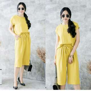 yellow casual set