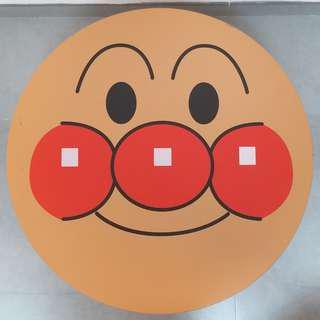 二手傢俬 [日本進口]麵包超人木製大臉圓桌 56x32cm (折疊桌/野餐桌/露營/折合桌/壁掛式折疊桌/餐桌椅/茶几)