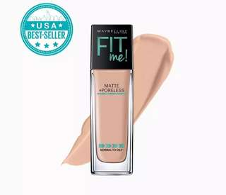 Maybelline Fit Me Matte + Poreless Liquid Foundation No.122 Creamy Beige