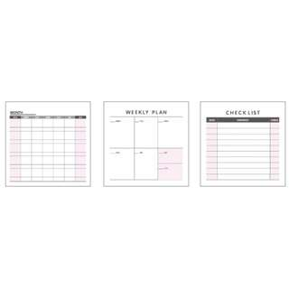 Monthly planners/Weekly planners/Checklist NotePads/9.3cm Square/60 sheets per pc/Non-Sticky/Free Local Mail