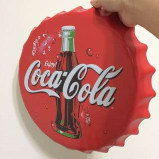 Coca Cola Bottle Cap Plaque
