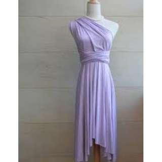 Lilac Convertible Bridesmaid Dress