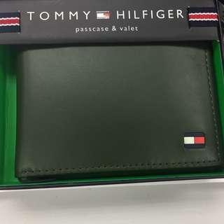 全新美國入口 TOMMY HILFIGER Wallet 銀包 (真皮) 禮物 專門店賣$590 軍綠色
