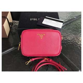 Authentic Prada Saffiano Crossbody Bag