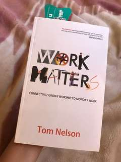 Work Matters by Tom Nelson Book