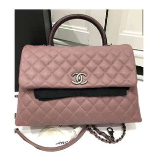 Authentic Chanel Coco Large Lizard Handle