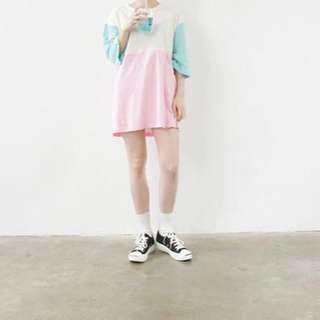 Oversized Colour Block T