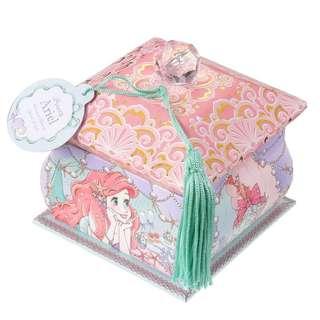 日本 Disney Store 直送 Princess Party 系列 The Little Mermaid小魚仙 Ariel & Flounder 艾莉奧小胖 Memo 便條紙連儲物盒