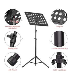 Collapsible Sheet Music Score Tripod Stand Holder Bracket Concert Performance
