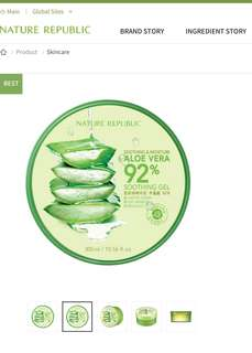 New-Nature Republic Soothing & Moisture Aloe Vera 92% Soothing Gel 300ml