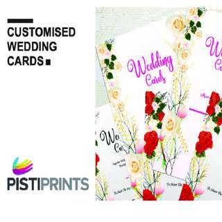 Invitation/Wedding card printing (free design help)✨