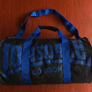 Lonsdale barrel bag black/blue